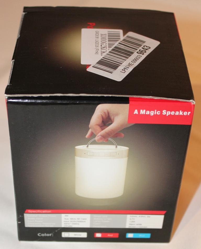 der grde bluetooth lautsprecher mit led licht im test. Black Bedroom Furniture Sets. Home Design Ideas
